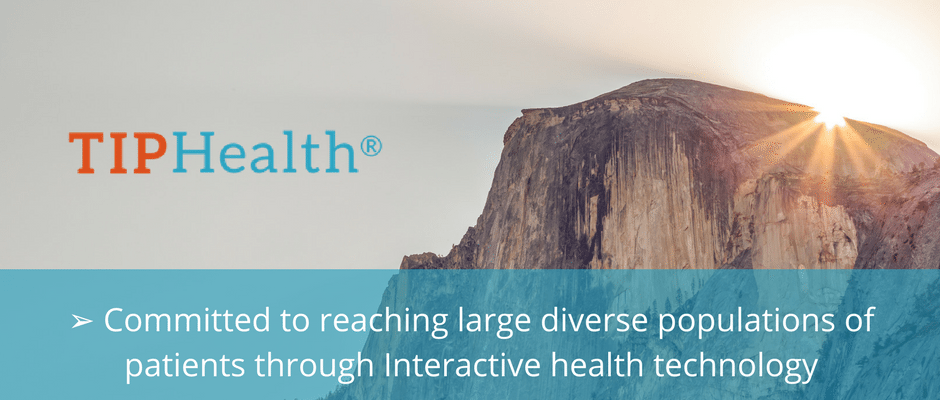 committed to reaching large diverse populations of patients through interactive health technology